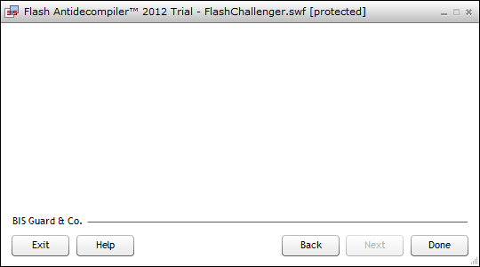 Flash Antidecompiler 2012 full screenshot